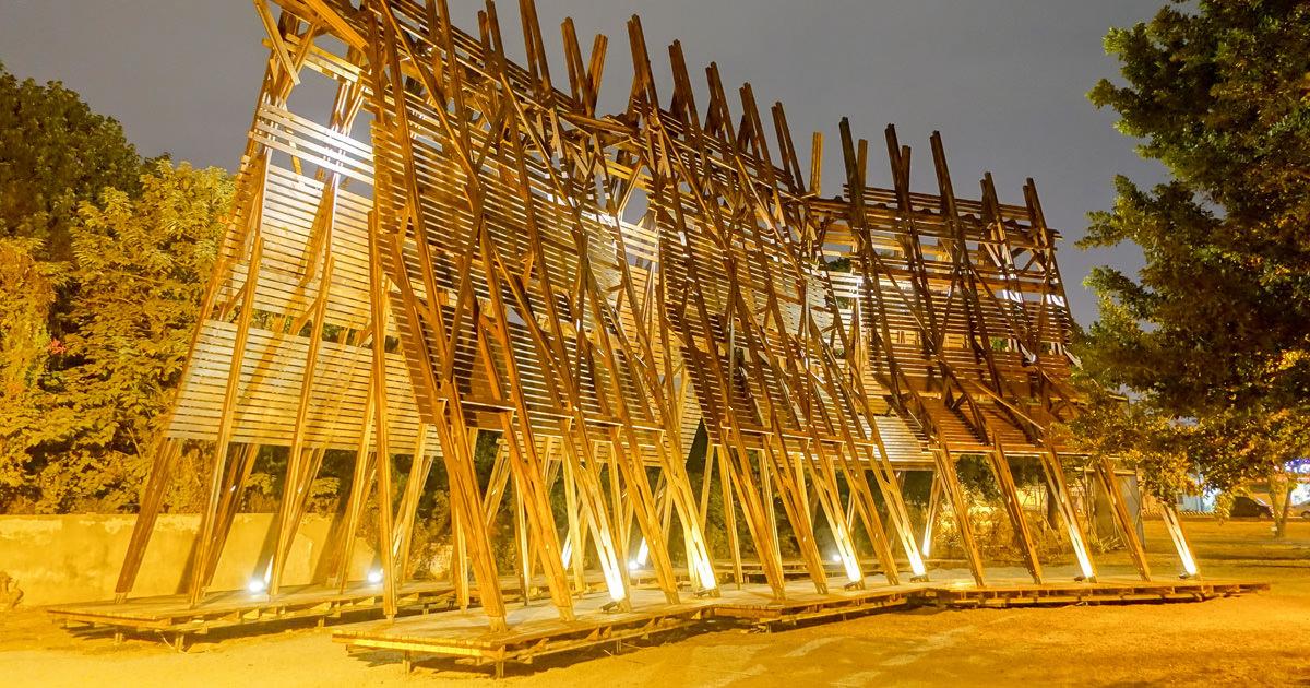 【台南活動】水交社工藝聚落|耶誕點燈|水交社夜晚展風情~光之教堂耶誕地景