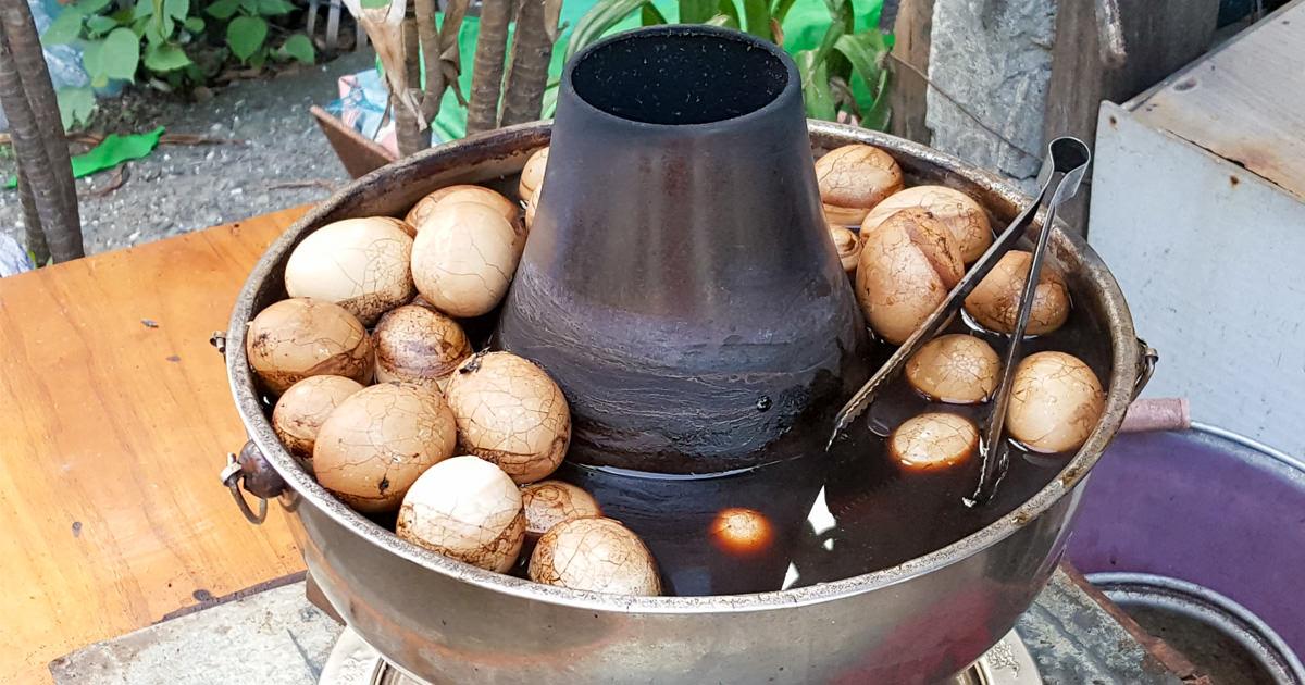 【台南美食】秋茂園40年老味道|柴火煮的茶葉蛋~漁光島阿婆茶葉蛋