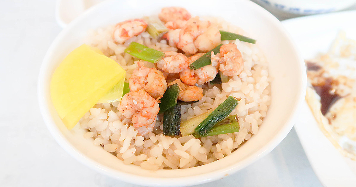 【台南美食】百年台南小吃 經典組合在這裡 海安路必吃美食~~矮仔成蝦仁飯