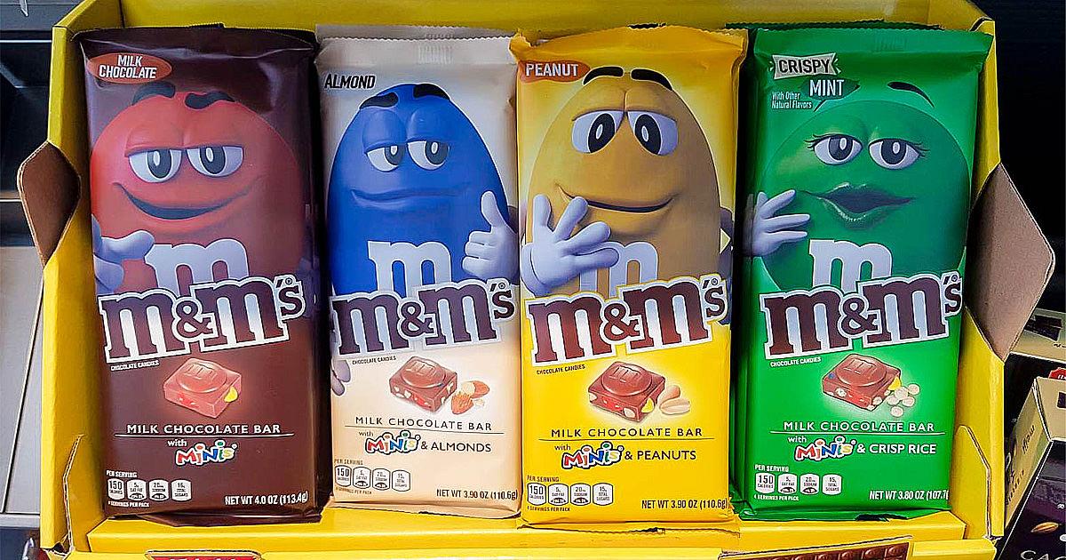 【超商甜食】首度在台開賣|7-11獨家販售|世界巧克力大賞任選第二件六折~~M&M's巧克力磚