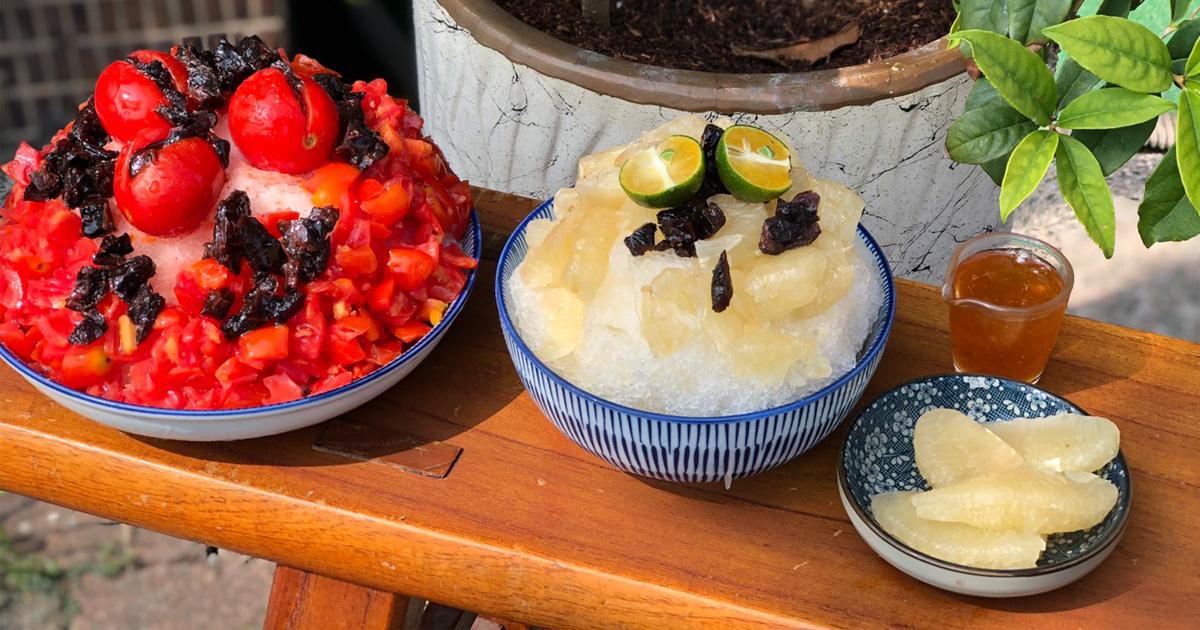 【台南美食】台南獨家柚子冰開賣|復古番茄蜜餞冰|3樓露天雅座看到夕陽~~南泉冰菓室