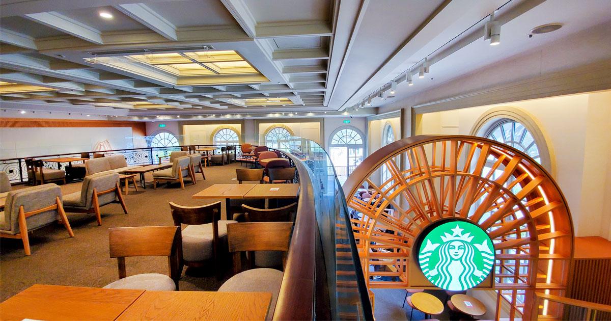 【臺南咖啡館】全台唯一博物館星巴克│西洋融合現代古典風格│樓中樓座位好美│戶外咖啡空間~星巴克奇美博物館門市