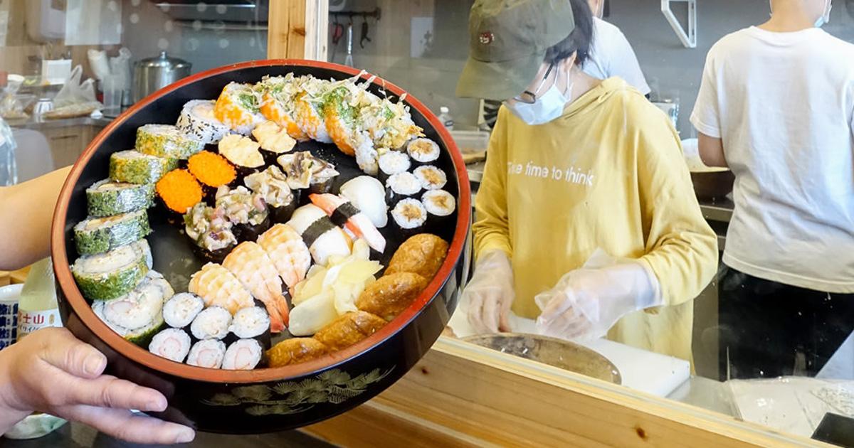 【臺南美食】大份量壽司桶在這裡|個人版壽司.便當|現點現做|提供外送及外帶~福島壽司研究室
