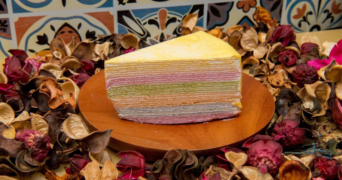 【臺南美食】繽紛超美彩虹千層|使用天然食材製作漸層餅皮|臺南知名經典千層名店|20款千層蛋糕|層層堆疊綿密口感|下午茶|千層蛋糕.蜂巢~~克林姆之屋