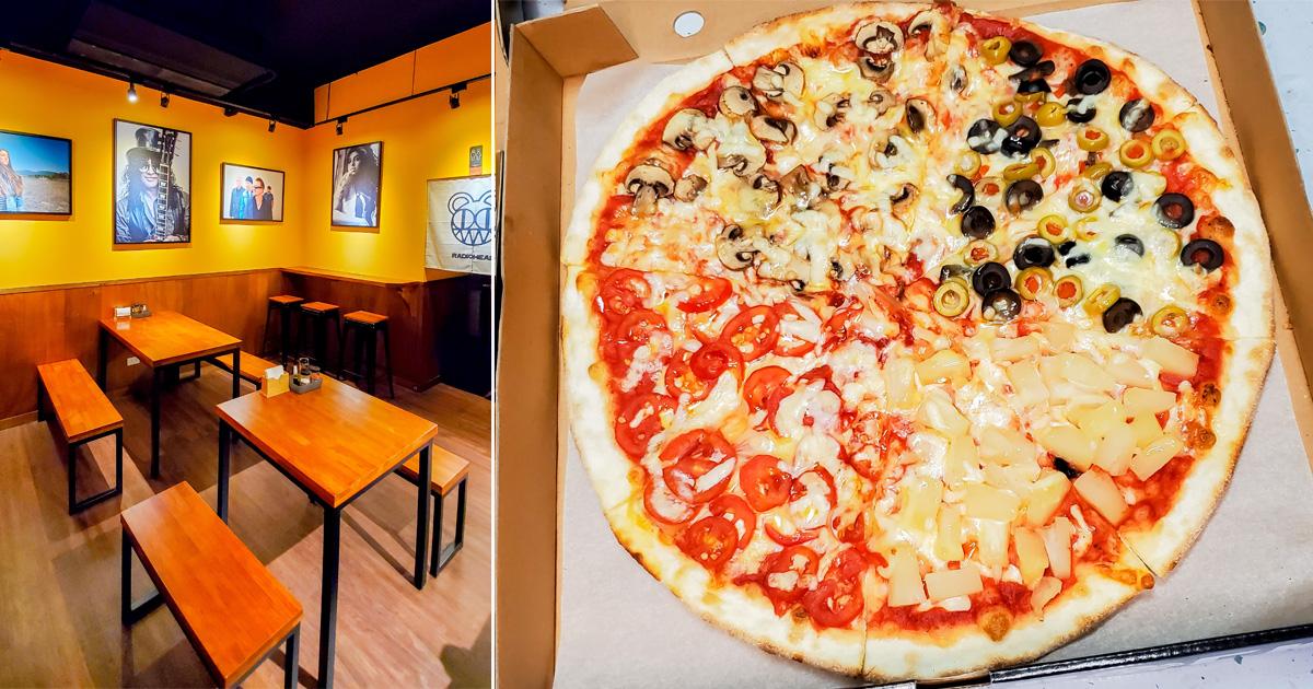 【臺南美食】原汁原味道地義式薄餅披薩|堅持義式傳統電烤箱加上披薩石板烤|23種口味披薩讓你選|自製配方每天現打披薩醬|祖傳祕方自己做自己烤餅皮~~Pizza Rock 台南店