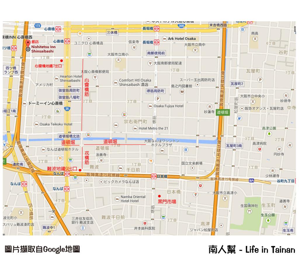 大阪概略地圖